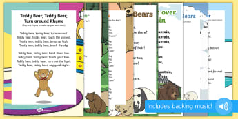 Bears Songs and Rhymes Resource Pack - Bear, Polar Bear, Brown Bear, Grizzly Bear, Animals, Science, teddy bear, teddies, singing, song tim