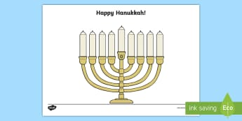 Hanukkah Menorah Fingerprint Craft - Jewish Holidays, Happy Hanukkah, Menorah, Hanukkah Keepsakes, Preschool, PreK