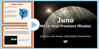 Juno NASA New Frontiers Mission PowerPoint