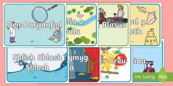 Posteri Ardaloedd y Dosbarth CS - ardal, ardaloedd, cyfnod sylfaen, rheolaeth ddosbarth, trefn, tu allan, allanol,Welsh, Diwrnod cyntaf