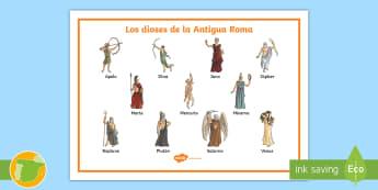 Tapiz de vocabulario:  Dioses romanos  - Roman Spain, Ancient Rome, Cuarto Curso Primaria, Social Science, Ciencias Sociales, Antigua Roma, r