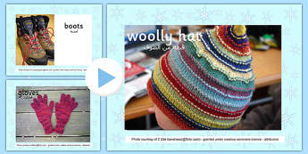 Winter Clothes Photo Display PowerPoint Arabic Translation - arabic, powerpoint, power point, interactive, powerpoint presentation, winter clothes, clothes, winter clothes presentation, winter clothes powerpoint, winter powerpoint, how to dress in wi