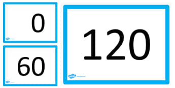 0-120 Counting Forwards and Backwards PowerPoint - counting, 120