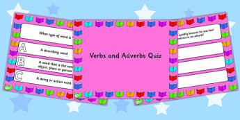 Verbs and Adverbs PowerPoint Quiz - verbs, adverbs, powerpoint