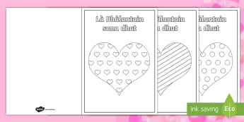 Happy Valentine's Day Colouring Greetings Card Gaelic - CfE Gaelic Resources, Valentine's day, Là Bhàlantain sona dhut, art, special events, cards, greet