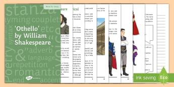 Othello Notes for Study - Othello, Iago, Desdemona, Brabantio, Emilia, Bianca, Cassio, Roderigo, Montano, Lodovico, Gratiano,