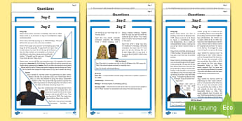 KS2 Jay-Z  Differentiated Reading Comprehension Activity - music, biography, ks2 literacy, musician, significant Individuals, famous, reading, comp, comps