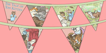 Beatrix Potter - The Tale of Tom Kitten Bunting - beatrix potter, tom kitten
