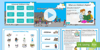 KS1 Universal Children's Day Resource Pack - children's rights, united nations, living in the wider world, PSHCE, 20th November