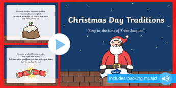Christmas Day Traditions Song PowerPoint - father christmas father christmas, song, powerpoint, presentation, sing