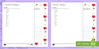 Mother's Day Bordered Letter French  - KS3, French, Mother's Day, fête, mères, border, page, lettre, adjectives ,French