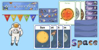 KS1 World Space Week Display Pack - STEM, tim peake, EYFS, KS1, Science,