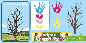 Pack d'affichage : L'arbre de la gentillesse - actions, comportement, bonté, cycle 2, cycle 1,French