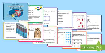 Y1 Count in Multiples Maths Mastery Challenge Cards - Reason, Explain, Concrete, Pictorial, Abstract, CPA, Shanghai, Singapore.