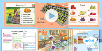 French: Going Shopping: Fruit Year 4 Lesson Pack 1  - french, languages, grammar, food, fruit
