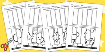 Weather Themed Number Sequencing Puzzle - seasons, numeracy