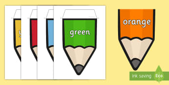 Australia Colours on Pencil Display Bunting - Australia Colours on Pencil Display Bunting - colours, pencil, bunting, display, colous, bounting,Au