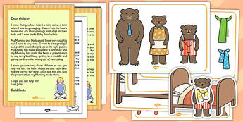 Goldilocks Size Ordering Pictures Activity Pack - goldilocks
