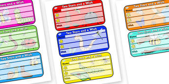 Themed Two Stars and a Wish Comment Labels Minibeasts - Themed Labels, Labels, Minibeast Themed, Two Stars And A Wish, Comment Labels, Minibeast Label