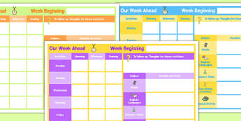 Weekly 1 Child Planner - planning, plans, charts, chart, week