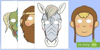 Máscaras de juego de rol: San Jorge y el dragón  - San Jorge, sant jordi, leyenda, leyendas, cuentos, cuentos tradicionales, Saint george spanish, jorg