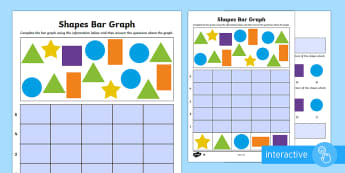 Bar Graphs with Shapes Differentiated Go Respond Activity Sheets - bar graphs, collecting data, collating data, mathematics, ACMSP263, ACMSP049, ACMSP050, ACMSP069, AC