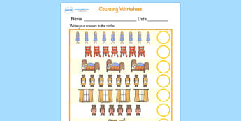 Goldilocks and the Three Bears Counting Sheet - goldilocks and the three bears, couting sheets, counting, counting worksheet, adding, numeracy, maths, number, 1:1 correspondance