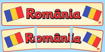 Ziua Națională a României - Banner - ziua națională, România, banner, de afișat, de perete, național, 1 Decembrie, materiale, materiale didactice, română, romana, material, material didactic