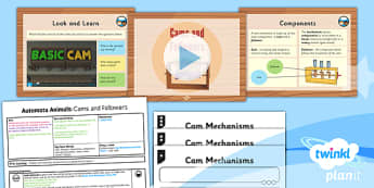 Design and Technology: Automata Animals: Cams and Followers UKS2 Lesson Pack 2