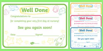 First Day Award Certificates - First day, award, scroll, reward, award, certificate, medal, rewards, school reward