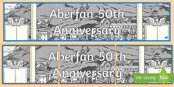 Aberfan Display Banner-Welsh