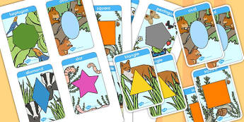 Shape Snap Card Game - shape, snap, cards, game, activity, play