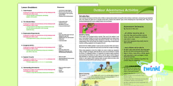 OAA Unit Overview - Year 4 PE Lesson - orienteering, outdoor, adventure, problem-solving