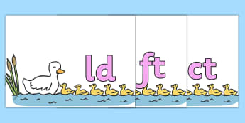 Final Letter Blends on 5 Little Ducks - Final Letters, final letter, letter blend, letter blends, consonant, consonants, digraph, trigraph, literacy, alphabet, letters, foundation stage literacy