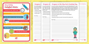 Dragons in the City Diary Differentiated Activity Sheets - Chinese New Year, Recount, Diary Entry, Retelling Events, Recalling Events, Independent Writing, Fir