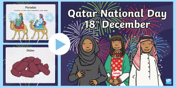 Qatar National Day Word and Picture PowerPoint - UAE National Day, UAE, National Day, ADEC, Abu Dhab, worksheet, activity sheet