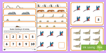 Workstation Pack: Zoo Animal Themed Number Matching to 10 Activity Pack  - Workstations, TEACCH, autism, ASD, early intervention