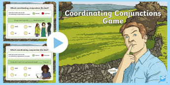 Coordinating Conjunctions PowerPoint Game - FANBOYS, Sentences, Language, English, Clauses, Grammar, Sentence Connectors