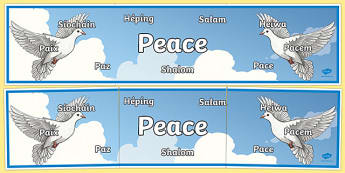 Peace in Different Languages Display Banner-Irish