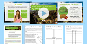 GCSE Poetry Lesson Pack to Support Teaching on 'Home Thoughts, From Abroad' by Robert Browning - GCSE english literature, country, homesickness, poetry revision, Robert Browning, Home Thoughts, GCS