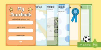Einde van die jaar plakboek  - Einde van doe jaar plakboek, hulpbron, jaareinde, plakboek, einde van die jaar