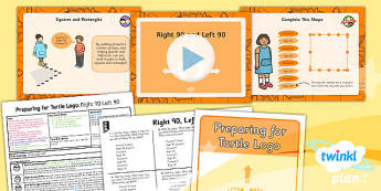 Computing: Preparing for Turtle Logo: Right 90 and Left 90 Year 2 Lesson Pack 3