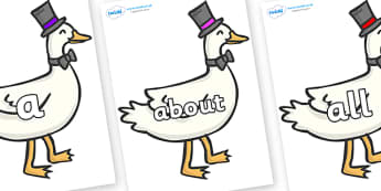 100 High Frequency Words on Goose - High frequency words, hfw, DfES Letters and Sounds, Letters and Sounds, display words
