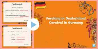Carnival in Germany Quiz PowerPoint - Carnival, Germany, German, Fasching, Fastnacht, Karneval, MFL,