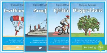 Posteri Grymoedd Gwahanol  - poster arddangos grymoedd. disgyrchiant, arnofio, gwrthiant aer, ffrithiant,Cymraeg, gwyddoniaeth, c