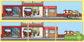 Fire Station Small World Background - Fire Station Small World Background - fire station, fire station background, fire station small worl