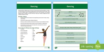 Dancing Guide - Exercise, Dancing, Movement, Music, Ideas, Health, Support, Elderly Care, Care Homes, Activity Coord