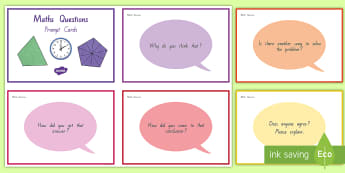 Maths Discussion Prompt Question Cards - Maths Displays, Maths Moves, Talk Moves, discussion prompts, group discussions, maths discussion car