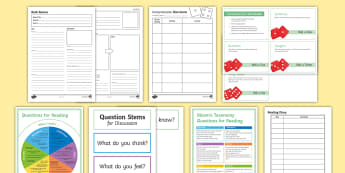 Reading Tools Resource Pack - secondary, novel, understand, bloom's taxonomy
