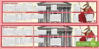 Roman Timeline - romans, timeline, history, visual aid, display